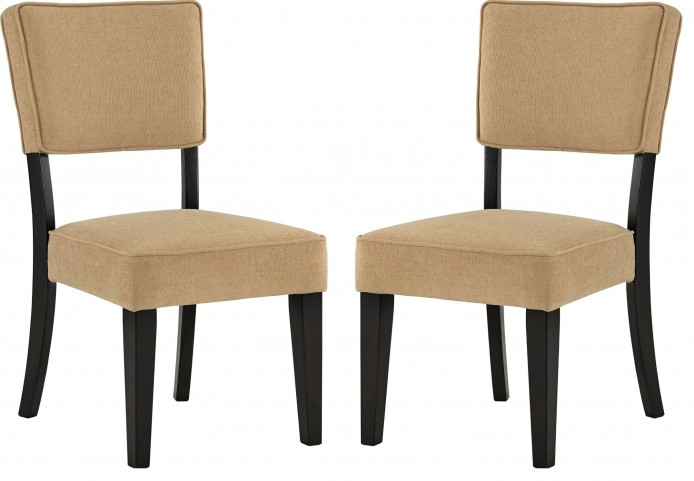 Gavelston Beige Dining Upholstered Side Chair Set of 2