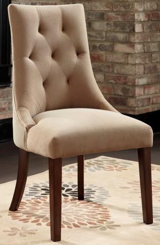 Mestler Light Brown Upholstered Side Chair Set of 2
