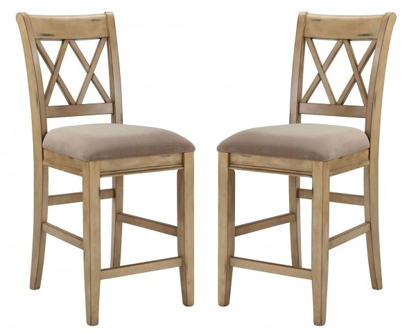 Mestler Upholstered Counter Stool Set of 2