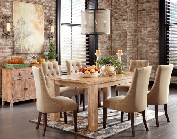 Mestler Driftwood Dining Room Set