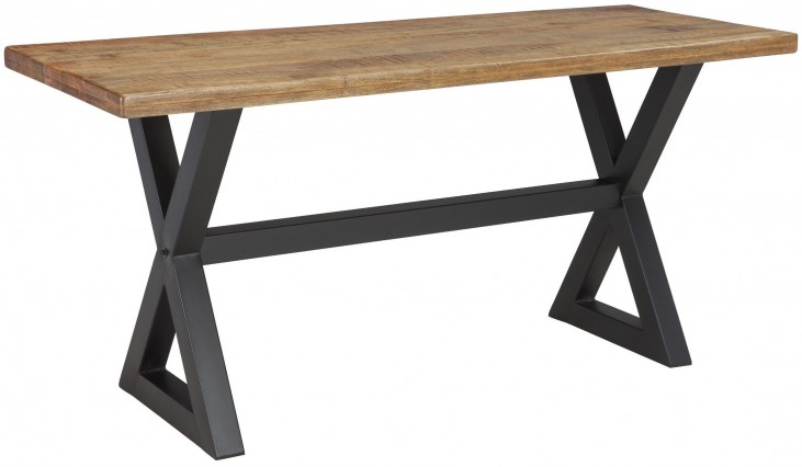 Glosco Two-Tone Rectangular Counter Height Dining Table