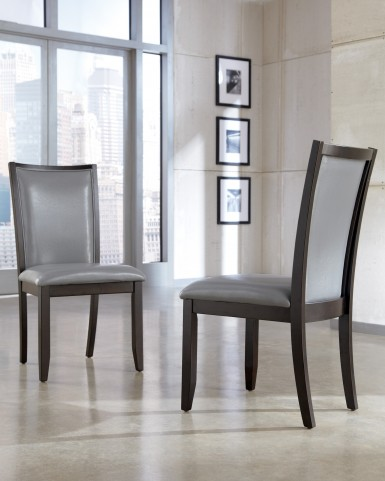 Trishelle Dining Gray Upholstered Side Chair Set of 2