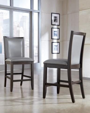 Trishelle Gray Upholstered Barstool Set of 2
