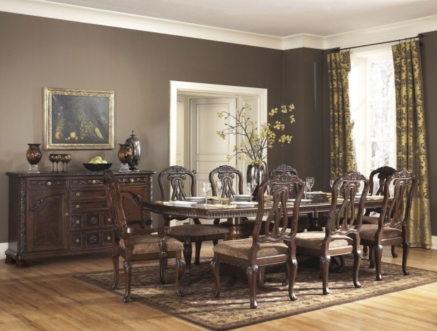 north shore double pedestal dining room set from ashley