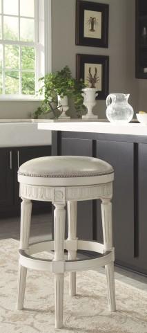 Crenlam Antique White Tall Upholstered Swivel Stool