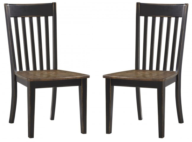 Emerfield Two-tone Brown Dining Room Side Chair Set Of 2