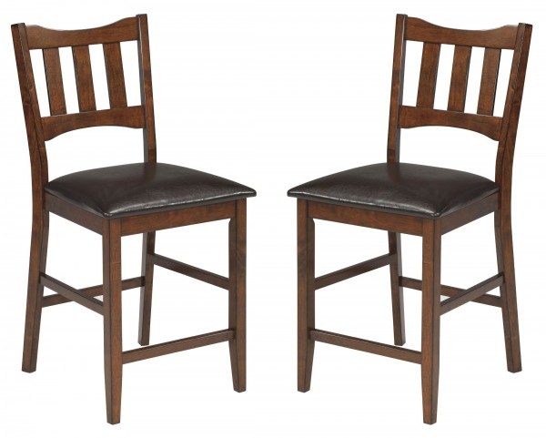 Renaburg Dark Brown Upholstered Barstool Set Of 2