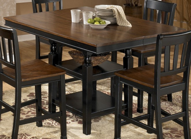 Owingsville Square Counter Height Extendable Table
