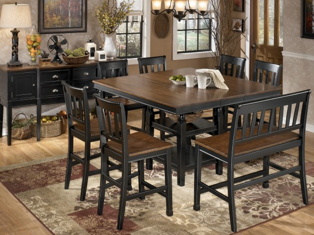Owingsville Square Counter Height Extendable Dining Room Set