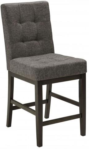 Chanella Dark Gray Upholstered Counter Stool Set of 2