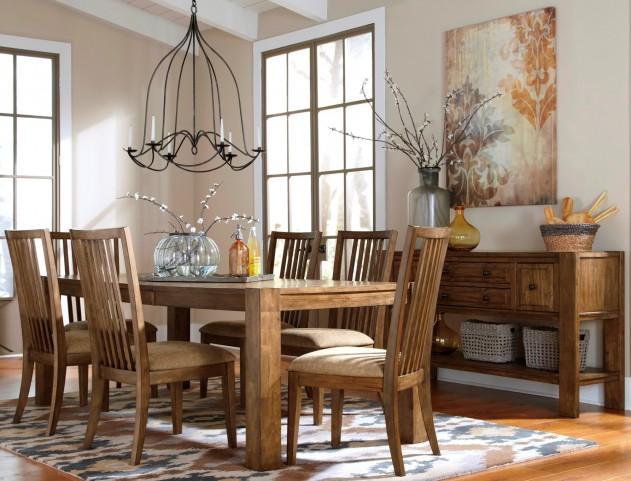 Birnalla Rectangular Butterfly Extension Dining Room Set