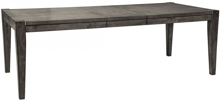 Chadoni Gray Rectangular Extendable Dining Table