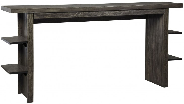 Lamoille Dark Gray Long Counter Height Dining Table