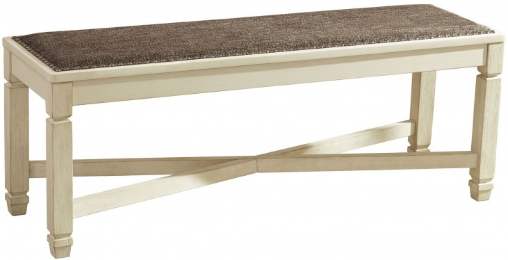Bolanburg Two-tone Large Upholstered Dining Bench