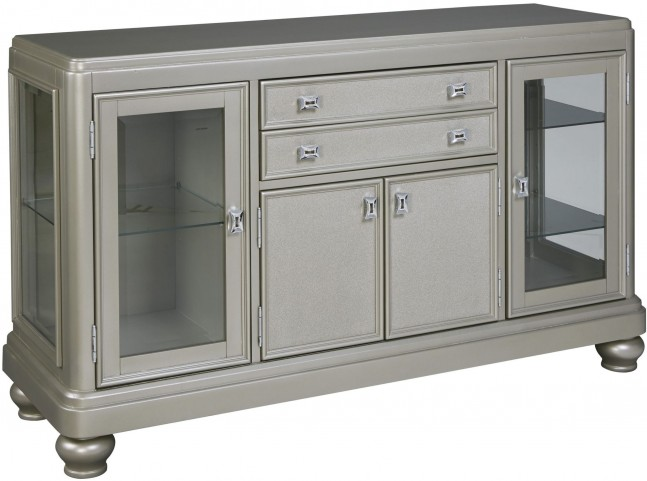 Coralayne Silver 2 Drawer Dining Server