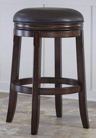 Porter Rustic Brown Tall Upholstered Swivel Stool Set of 2