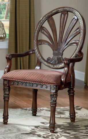 Ledelle Dining Upholstered Arm Chair Set of 2