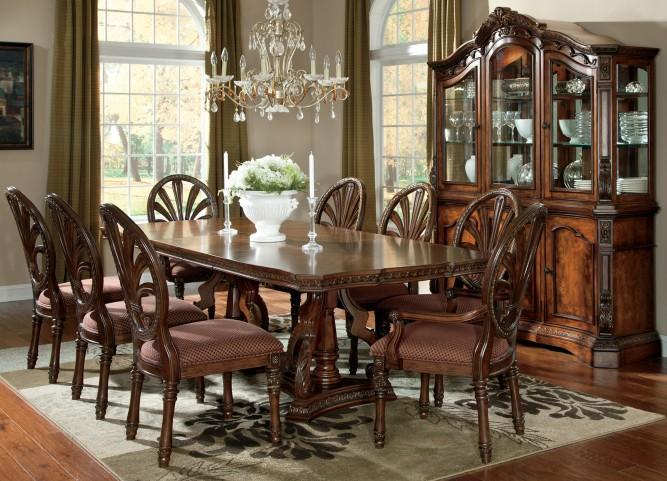 Ledelle Rectangular Pedestal Dining Room Set