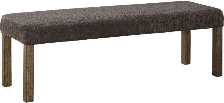 Tamilo Dark Brown Large Upholstered Dining Room Bench