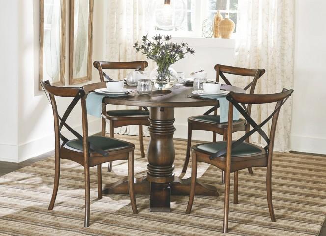 Braxton Medium Chestnut Round Dining Room Set