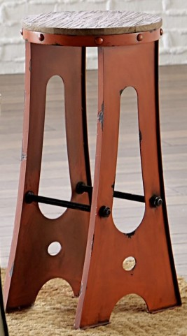 "A-Frame Forge 24"" Orange Zen Stool"