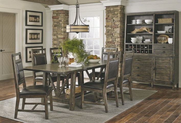 Crossroads Birch Smoke Dining Room Set