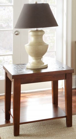 Davenport Medium Brown End Table