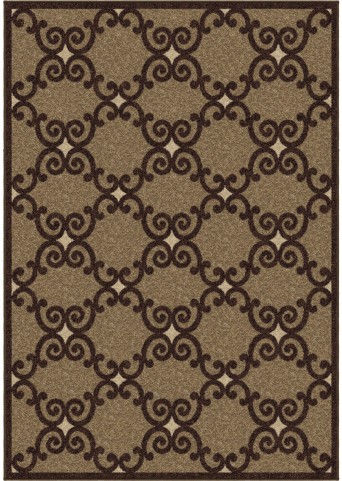 Orian Rugs Trendy Colors Trellis Valence Brown Area Small Rug