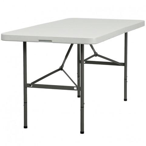 30''W x 60''L Plastic Bi-Fold Folding Table