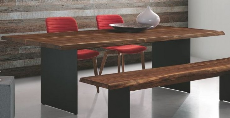 "Dallas Solid Walnut 79"" Rectangular Dining Table"