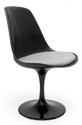Euro Home Melina Black With Gray Cushion Chair
