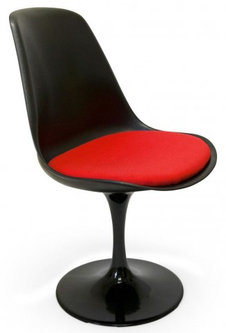 Euro Home Melina Black With Red Cushion Chair