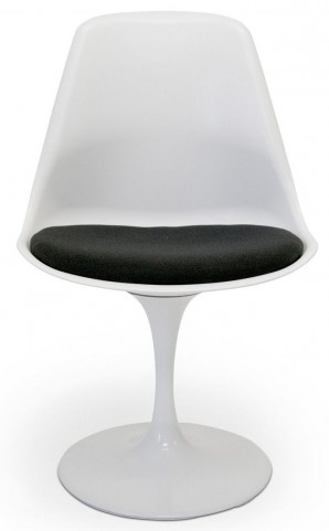 Euro Home Melina White With Black Cushion Chair