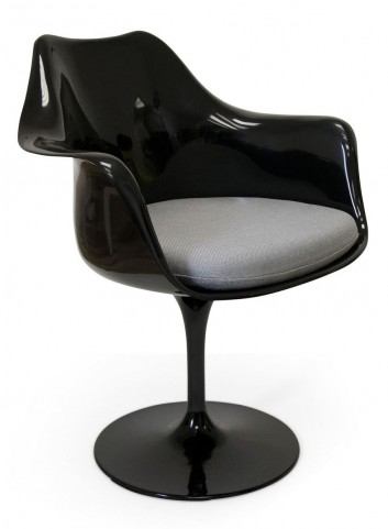 Euro Home Amsterdam Black With Gray Cushion Chair