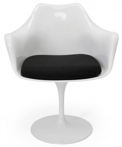 Euro Home Amsterdam White With Black Cushion Chair