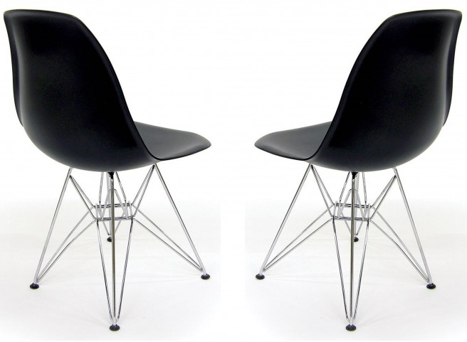 Euro Home Paris Black Chair Set of 2
