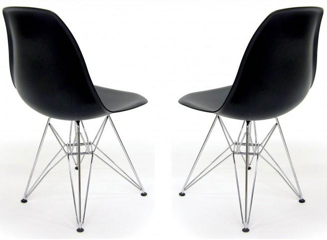 Euro Home Paris Black Chair Set of 2