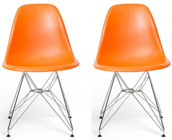 Euro Home Paris Orange Chair Set of 2