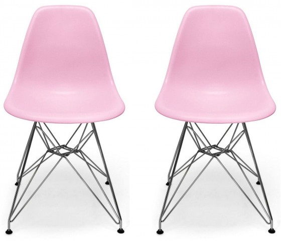 Euro Home Paris Pink Chair Set of 2