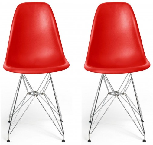 Euro Home Paris Red Chair Set of 2