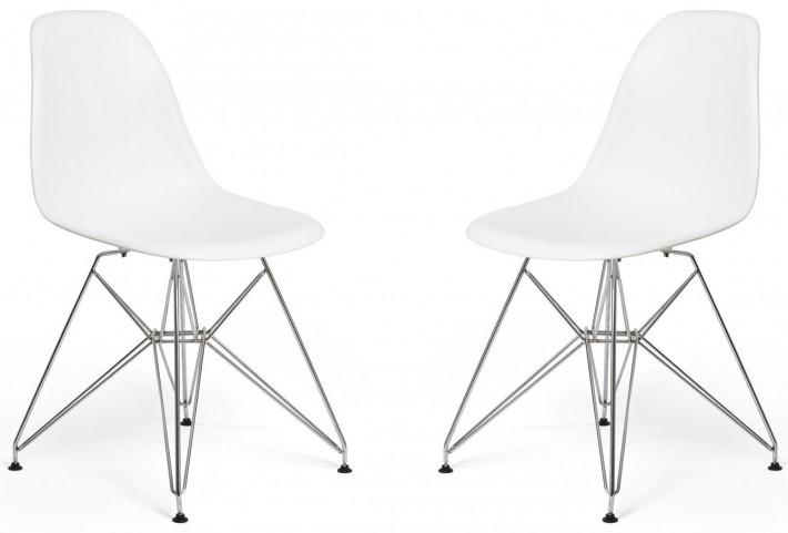 Euro Home Paris White Chair Set of 2
