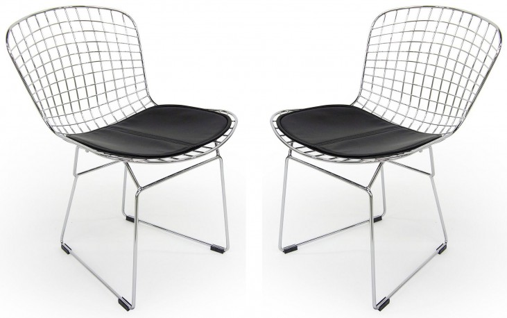 Euro Home Wendy Black Chair Set of 2