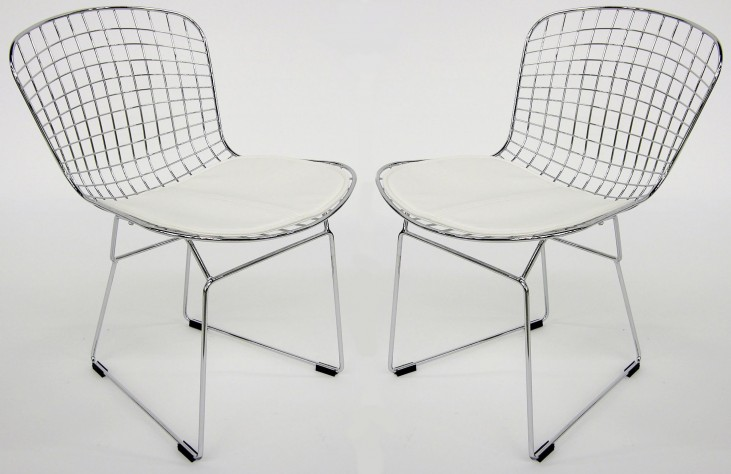 Euro Home Wendy White Chair Set of 2