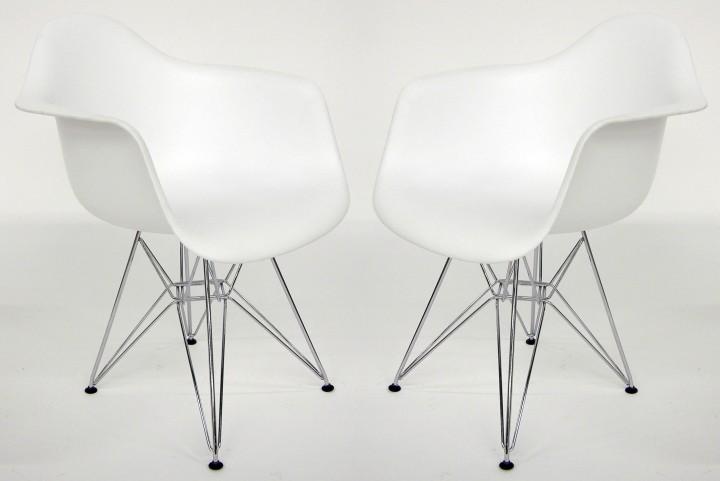 Euro Home Dijon White Matte Chair Set of 2