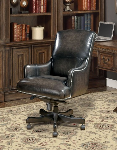 Smoke Leather Desk Chair