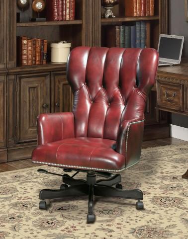 Lipstick Leather Desk Chair