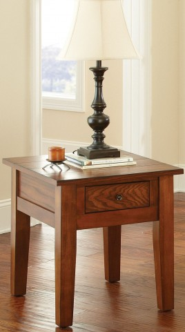 Desoto Medium Red Oak End Table