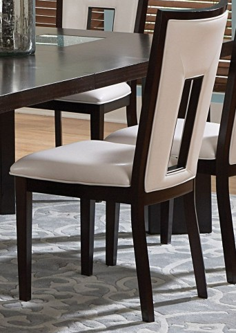 Delano Espresso Cherry Side Chair Set of 2
