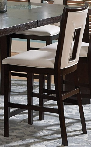 Delano Espresso Cherry Counter Chair Set of 2