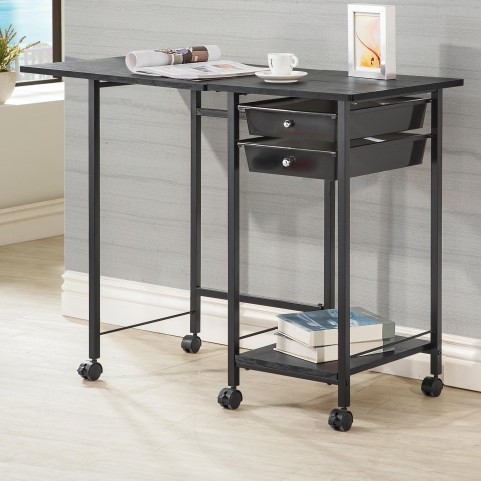 800429 Folding Desk with Casters